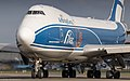 AirBridgeCargo 747-400ERF lining up taxiway Q on it's way to runway 36L (35673149443).jpg