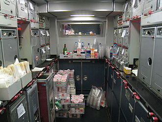 Galley (kitchen) - Airbus A340-300 galley
