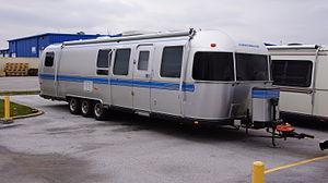 "Landyacht - Three-axle bumper-pull travel trailer by Airstream, a luxury ""land yacht"""