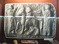 Alba Iulia National Museum of the Union 2011 - Bronze Plate Depicting Danubian Riders and Items from Polovraci.JPG