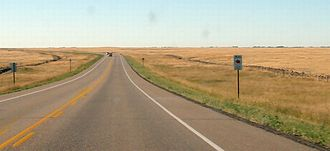 Alberta Highway 36 - Southbound, south of Vauxhall