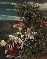 Die Bergung der Leiche des hl. Florian