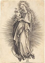 Virgin and Child Standing on a Crescent Moon