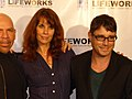 Alexandra Paul and Jaason Simmons at Laugh Out Loud event.jpg