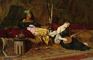 Alexandre-Louis Leloir - A Musical Interlude, 1874, (Private Collection)