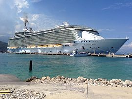 Allure of the Seas dockside in Labadee, Haiti.jpg