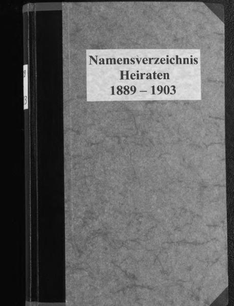 File:Alphabetisches Namensverzeichnis zum Heiratsregister des Standesamtes Minden, 1889 bis 1903.djvu