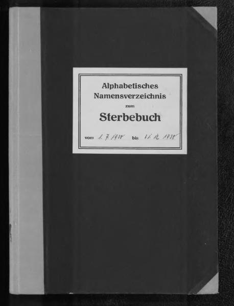 File:Alphabetisches Namensverzeichnis zum Sterberegister des Standesamtes Minden, 1938 (2. Halbjahr).djvu