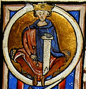 Alfonso Jordan - Alfonso Jordan, on a historiated initial from the first cartulary of the City of Toulouse, 1205