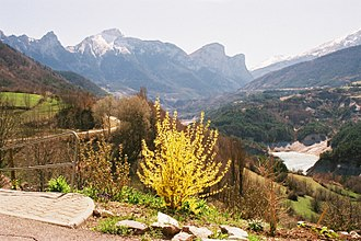 Ambel, Isère - Valley of the Souloise and the Dévoluy seen from Ambel