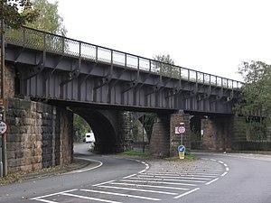 Ambergate - Image: Ambergate western railway viaduct over A6