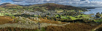 Ambleside & Waterhead Panorama 2, Cumbria, England - Oct 2009.jpg