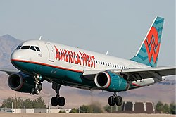 Airbus A319 der American West