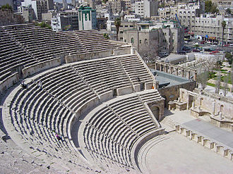 Acoustics - Principles of acoustics have been applied since ancient times : A Roman theatre in the city of Amman.