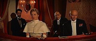 Anastasia (1956 film) - L-R: Sacha Pitoëff, Ingrid Bergman, Akim Tamiroff and Yul Brynner