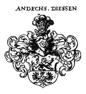 Counts of Andechs - Coat of arms of Andechs Diessen