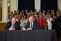 Andrew Weaver and John Horgan sign coalition agreement (34156619554).jpg