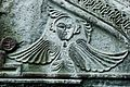 Angel, Portion of the carving above the north entrance of the Church of Assumption.jpg