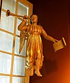 Angel Gabriel, from the church of Maskinonge, wood, gold foil - Château Ramezay - Montreal, Canada - DSC07508.jpg