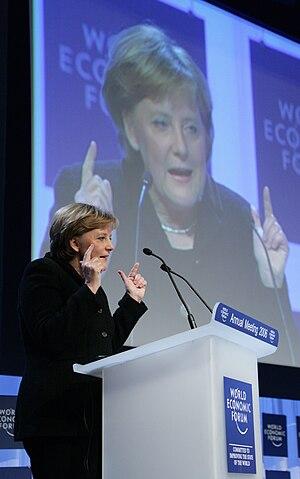 DAVOS/SWITZERLAND, 25JAN06 - Angela Merkel, Fe...