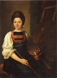 Angelica Kauffman - Self-Portrait in the Traditonal Costume of the Bregenz Forest, Seated at her Easel.jpg