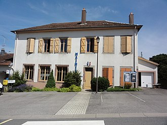 Angomont - The town hall in Angomont
