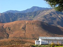 Anini carved on hill