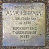 Stolperstein für Anna Röhmann geb. Cossmann