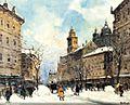 Antal Berkes Winter Street Scene 2.jpg