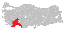 Location of Antalya Subregion
