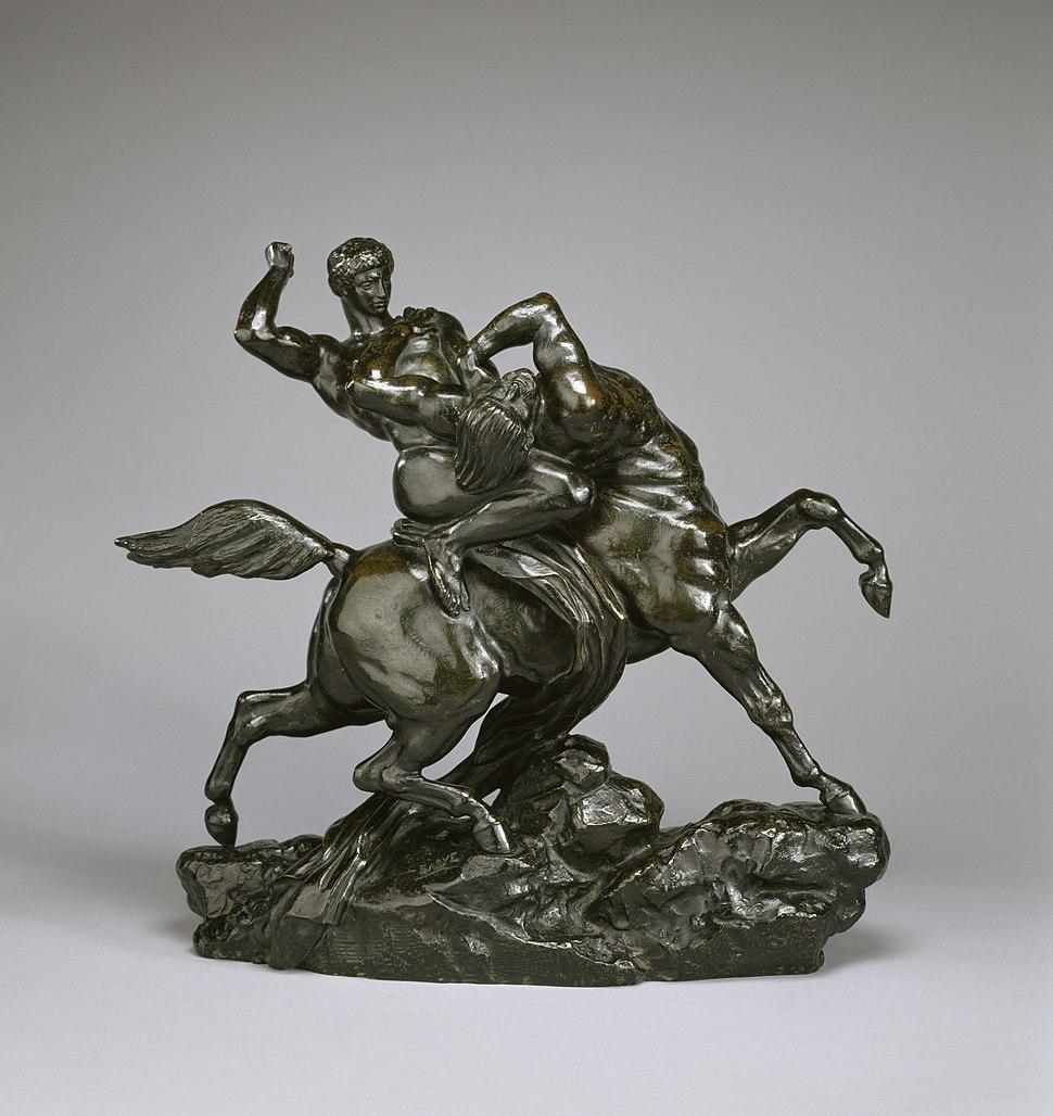Antoine-Louis Barye - Lapith Combating a Centaur - Walters 2736 - Profile