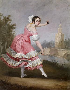 Bolero - A bolero dancer by Antonio Cabral Bejarano, 1842