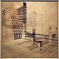 Antonio sant'elia, la città nuova, casa a gradinate con ascensori esterni, 1914 (coll. priv.) 01.jpg