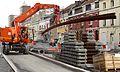 Anzin & Valenciennes - Travaux de raccordement des lignes A & B du tramway de Valenciennes à la Croix d'Anzin le 19 août 2013 (08).JPG