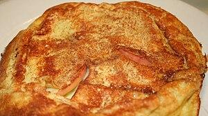 English: Dutch style apple pancake served at t...