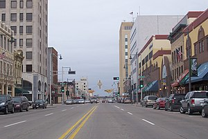 Looking west at downtown Appleton, Wisconsin, ...