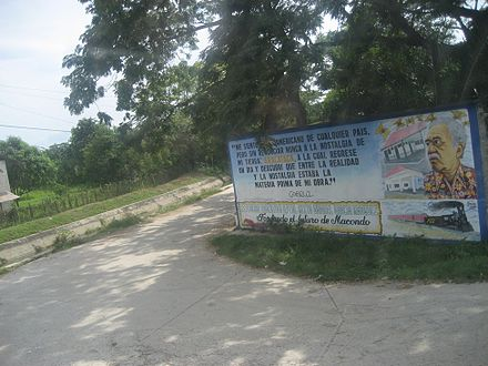 "Garcia Marquez billboard in Aracataca: ""I feel Latin American from whatever country, but I have never renounced the nostalgia of my homeland: Aracataca, to which I returned one day and discovered that between reality and nostalgia was the raw material for my work"".--Gabriel Garcia Marquez Aracataca1.jpg"