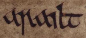 Maccus mac Arailt - Image: Aralt mac Sitriuc (Oxford Bodleian Library MS Rawlinson B 503, folio 17r)
