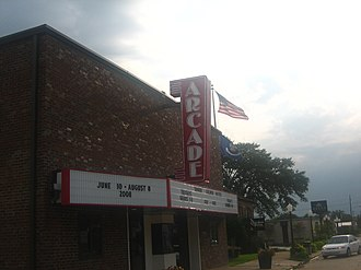 Delta Music Museum - The Arcade Theatre in downtown Ferriday historic district, restored in 2008