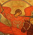 Archangel Michael, a fragment of the icon Novorussky Bogomater.JPG