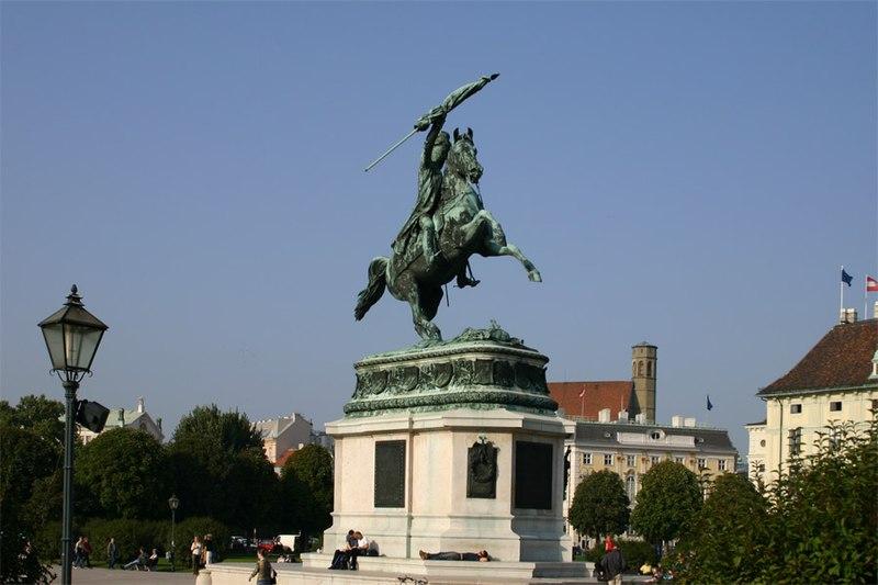 Archduke Charles sculpture