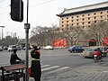 Archers' Tower of Changle Gate 下穿式立交快开建了,留住现在记忆 - panoramio.jpg