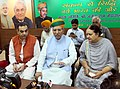 """Arjun Ram Meghwal interacting with the media persons, at the """"Sankalp Se Siddhi"""" programme, at Chandigarh on August, 31, 2017. The Mayor of Chandigarh, Smt. Asha Kumari Jaswal and other dignitaries are also seen.jpg"""