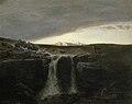 Arnold Böcklin - Gebirgslandschaft mit Wasserfall (ca. 1849).jpg