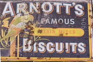 Arnott's Biscuits - Biscuit tin on display in museum at Young, New South Wales
