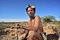 Arri Raats, Kalahari Khomani San Bushman, Boesmansrus camp, Northern Cape, South Africa (19917983663).jpg