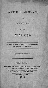 Arthur Mervyn cover