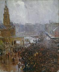 Fireman's funeral, George Street