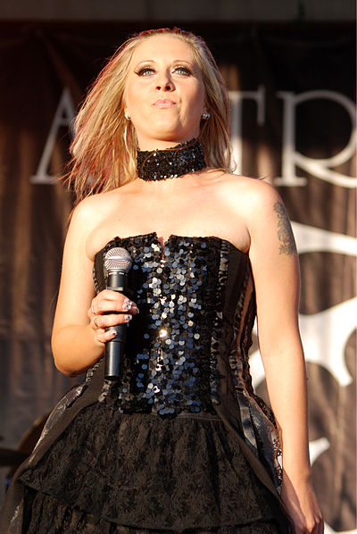"Magalena ""Medeah"" Dobosz, vocalist of one of the most popular Polish gothic metal bands, Artrosis. (Pictured while performing in 2009.) Artrosis Castle Party 2009 16.jpg"