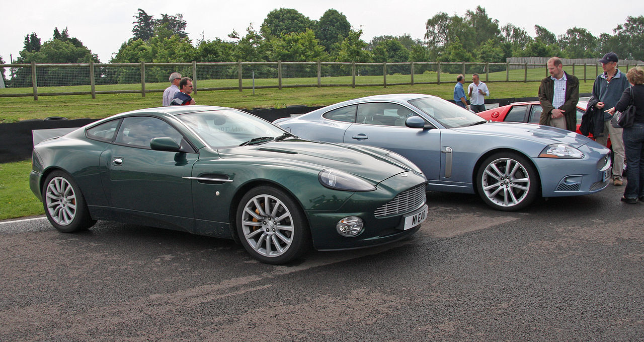 file:aston martin vanquish and jaguar xk - flickr - exfordy